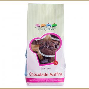 FunCakes Mezcla para Muffins de Chocolate 1kg