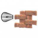 Wilton Decorating Tip 047 Basket weave Carded