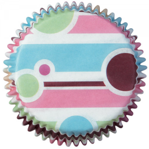 Wilton Baking cups Bubble Stripes pk/75