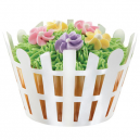 Wilton Cupcake Wraps Picket Fence pk/18
