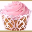 "Wilton Enveloppes à cupcake ""Wraps White Pearls Swirls"" pk/18"