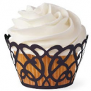 CUPCAKE WRAPS DE WILTON black