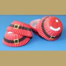 WILTON CHRISTMAS MINI BAKING CUPS - SECRET SANTA - CUPCAKE CASES - Pk of 100