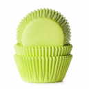 HoM Baking cups Lime Green - pk/50
