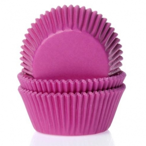 HoM Baking cups Pink - pk/50
