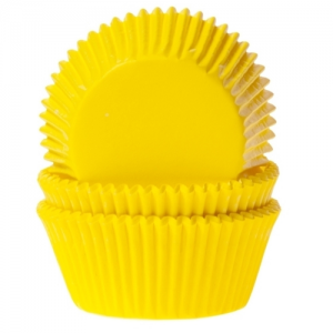 HoM Baking cups Yellow - pk/50