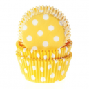HoM Baking cups Polkadot Yellow - pk/50