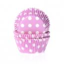 HoM Baking cups Polkadot Pink - pk/50