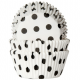 HoM Baking cups Polkadot white/black - pk/50
