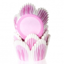 HoM Baking cups Tulip Pink - pk/50