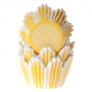 HoM Baking cups Tulip Yellow - pk/50