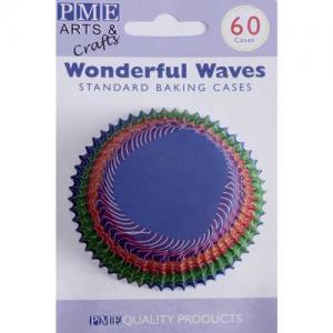 PME Baking Cups Wonderful Waves pk/60