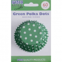 PME Baking Cups Polka Dots Green pk/60