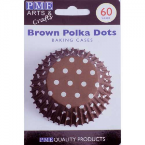 PME Baking Cups Polka Dots Brown pk/6
