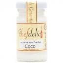 Aroma de coco en pasta
